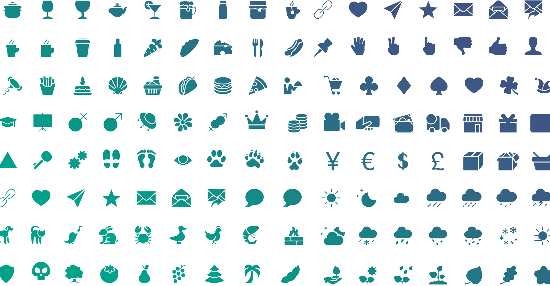A library of 3000 icons