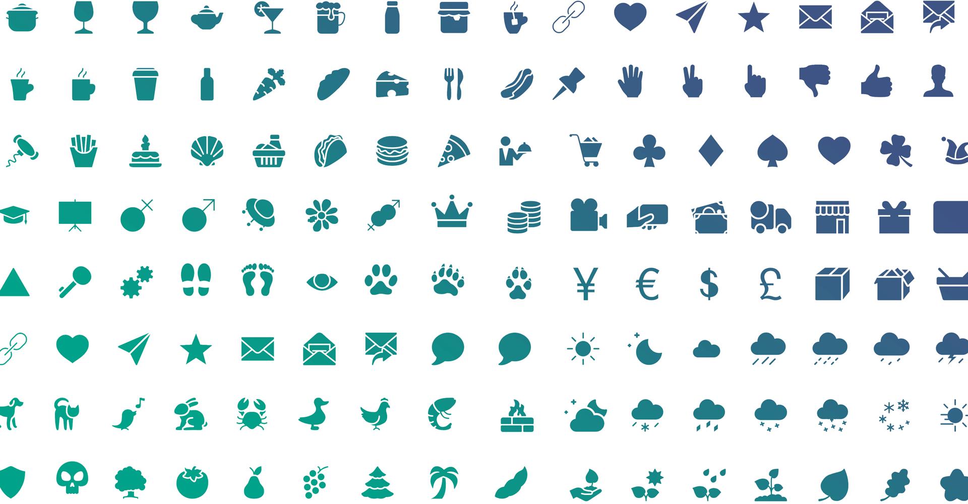 Uma biblioteca de 3000 ícones