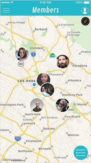 Mapa de usuarios