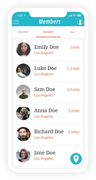 Lista de usuarios