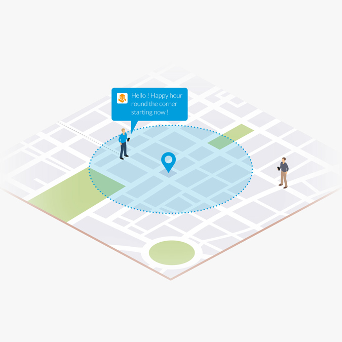 Push notifications geofencing