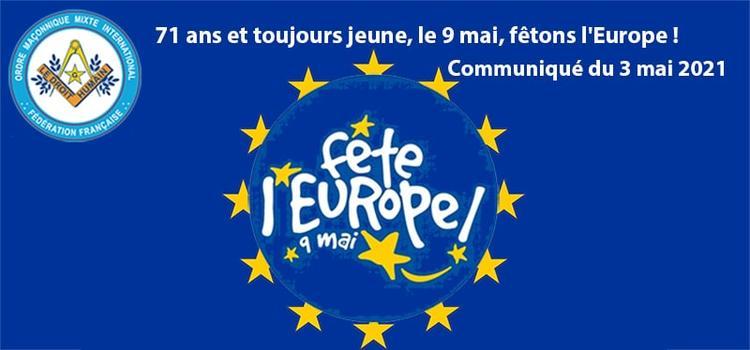 Communiqué Fête de l'Europe 9 mai 2021