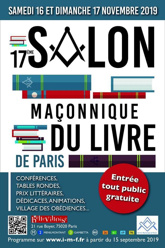 Salon Maçonnique du Livre de Paris 2019