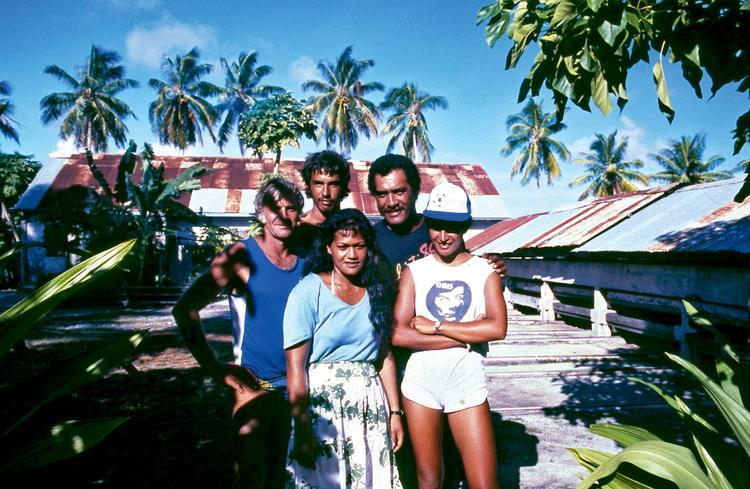 Jean-Pierre Marquant : le coureur d'atolls, photo de famille Polynésienne