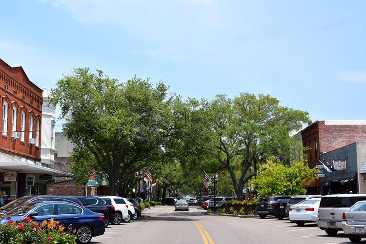 Die Centre Street in Fernandina Beach