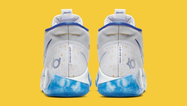 Nike KD 12 'Warriors Home' AR4229-100 (Heel)