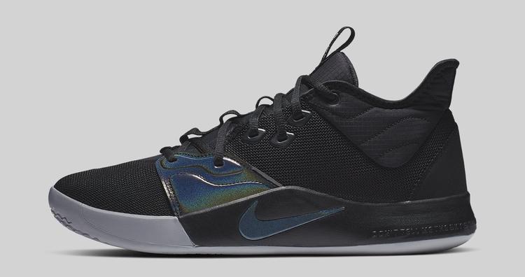 Nike PG 3 Black/Black AO2607-003 Lateral