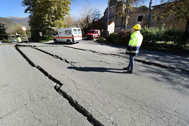 Symbolbild: Erdbeben (hier Erdbebenschäden in Norcia, Norditalien) Copyright: marcellomigliosi1956