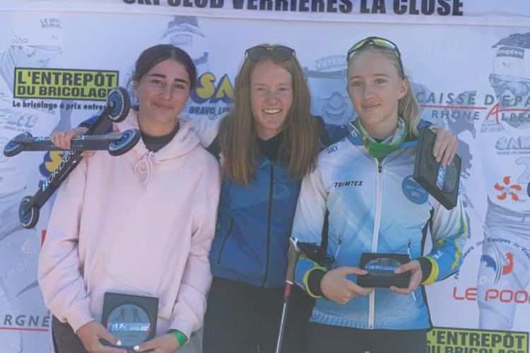 Marguerite Couval, Margot Tirloy, Agathe Margreither, ski-roues, rollerski, Challenge Vincent Vittoz, Challenge National Vincent Vittoz, Nordic Mag, nordicmag