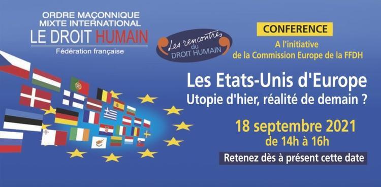 Etats Unis d'Europe - Conférence 18 sept-2021