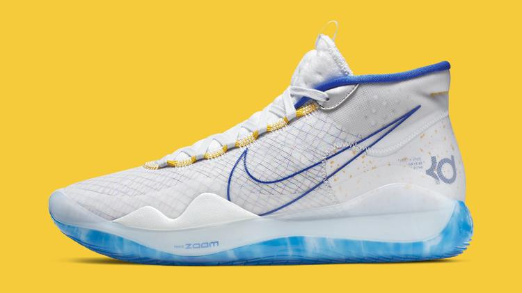 Nike KD 12 'Warriors Home' AR4229-100 (Lateral)