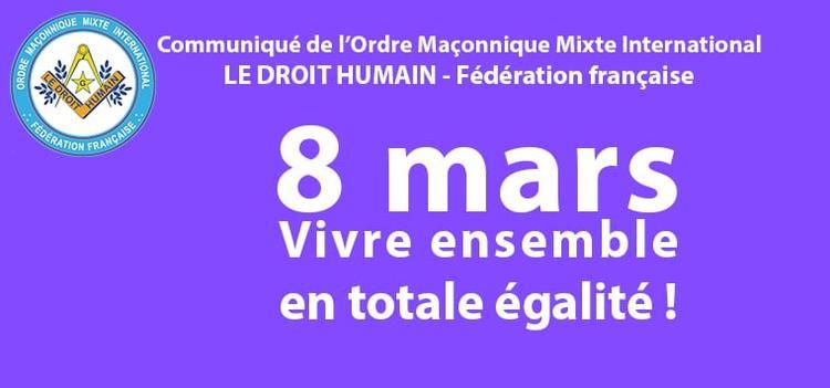 8 mars 2021 Vivre ensemble en toute égalité !