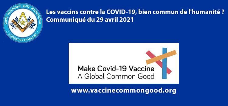 Vaccin contre la COVID-19 un bien commun