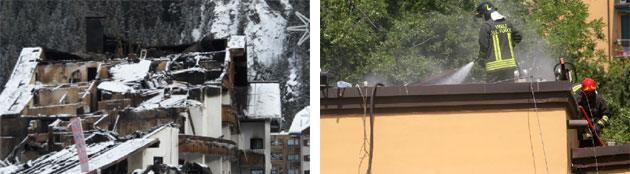 Incendio di edifici alberghieri e scolastici