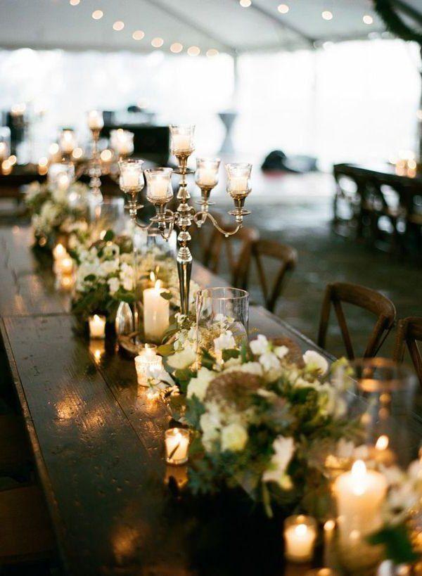 Organiza una boda mágica en invierno- Velas y candelabros