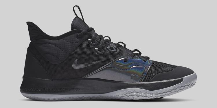 Nike PG 3 Black/Black AO2607-003 Medial