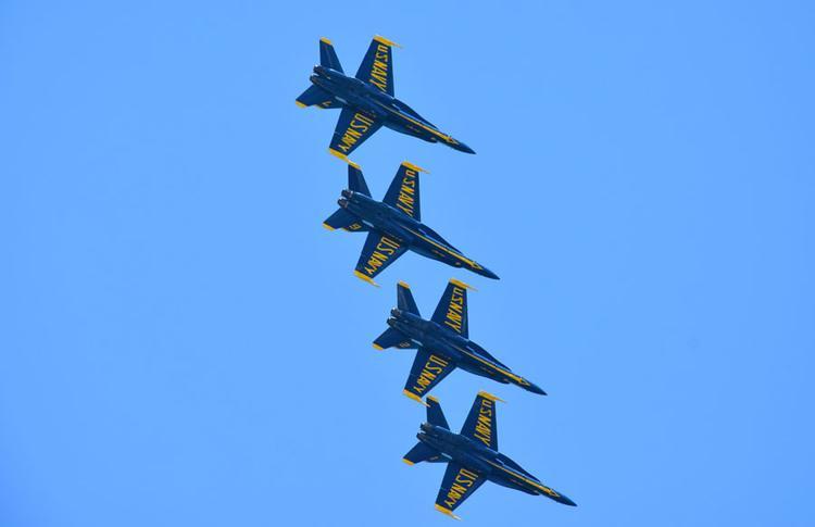 Die Blue Angels beim Training zu sehen ist immer etwas besonderes.