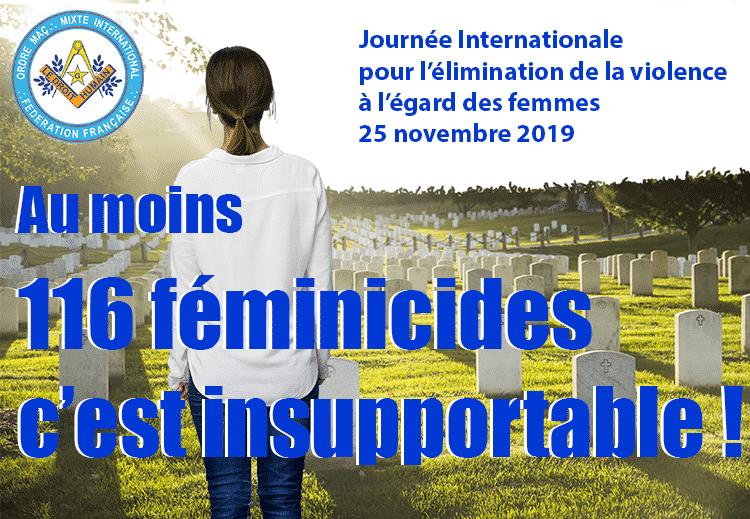Communiqué pour la journée internationale pour l'élimination de la violence à l'égard des femmes