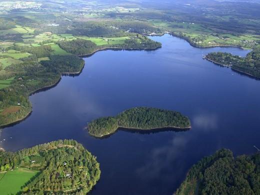 lac dessettons vue aérienne