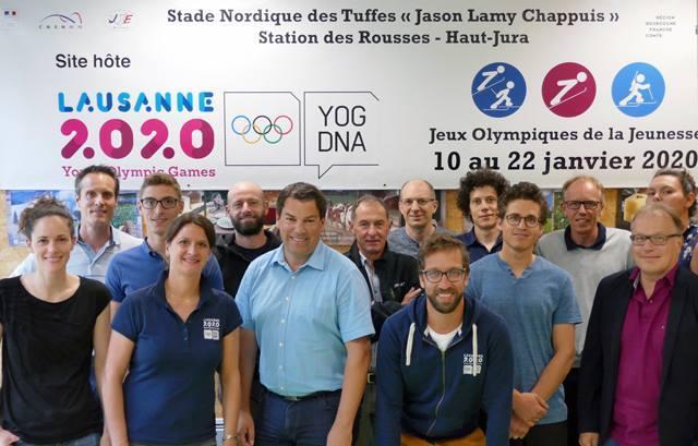 JEUX OLYMPIQUES - Les responsables de l'organisation franco-suisse des Jeux olympiques de la Jeunesse de Lausanne 2020 ont tenu une réunion de travail à Prémanon, au stade des Tuffes Jason Lamy Chappuis.