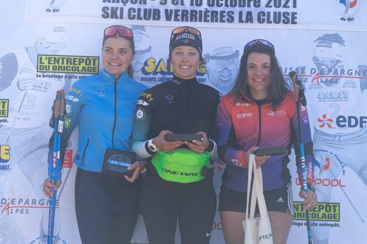 Cloé Pagnier, Julie Pierrel, Célia Courvoisier, ski-roues, rollerski, Challenge Vincent Vittoz, Challenge National Vincent Vittoz, Nordic Mag, nordicmag