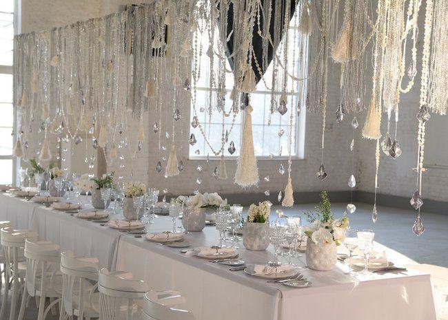 Organiza una boda mágica en invierno- Decoración en cristales.