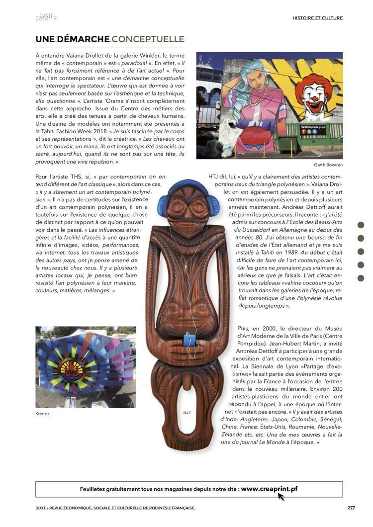 Art contemporain polynésien Dixit2018-19-2 2