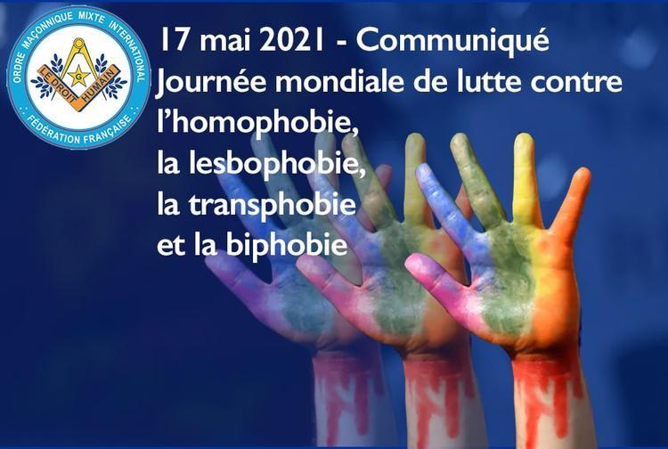 Communiqué 17 mai 2021 - Journée mondiale de luute contre homophobie