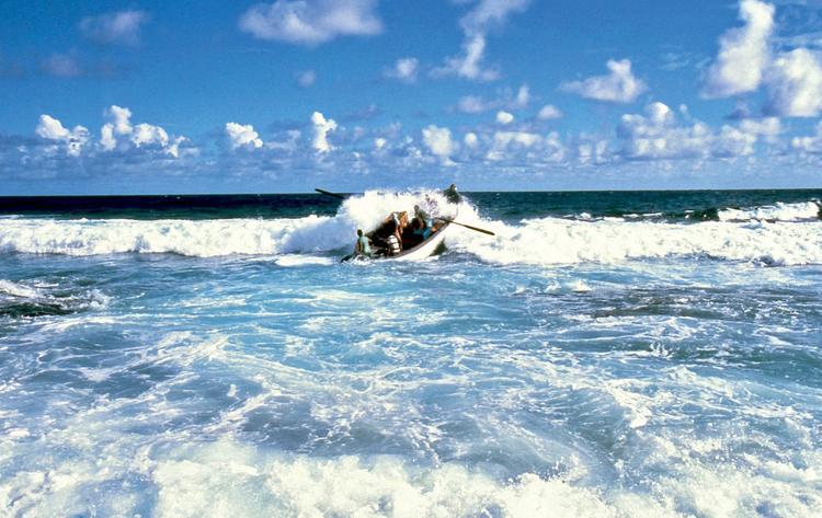 Jean-Pierre Marquant : le coureur d'atolls, chaloupe sur le récif