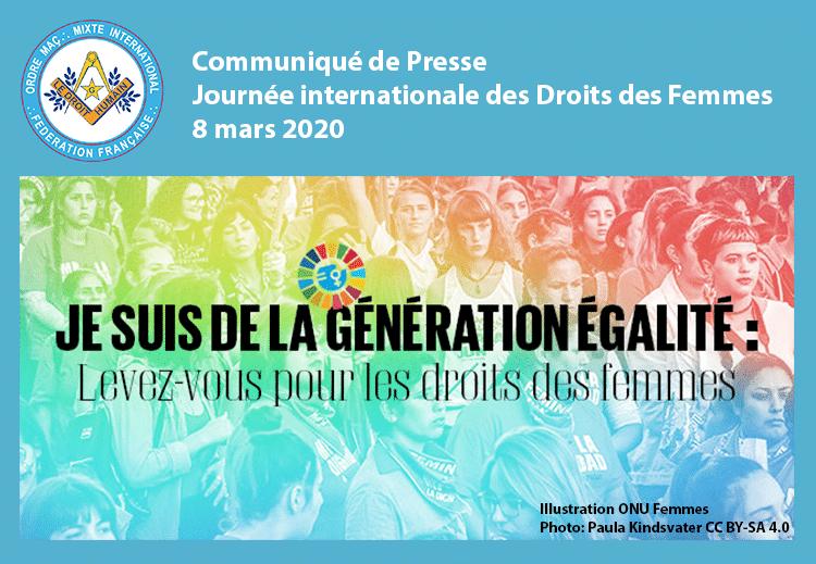 Communiqué Journée Internationale des Droits des femmes 8 mars 2020