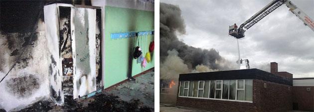 Incendio di edifici scolastici