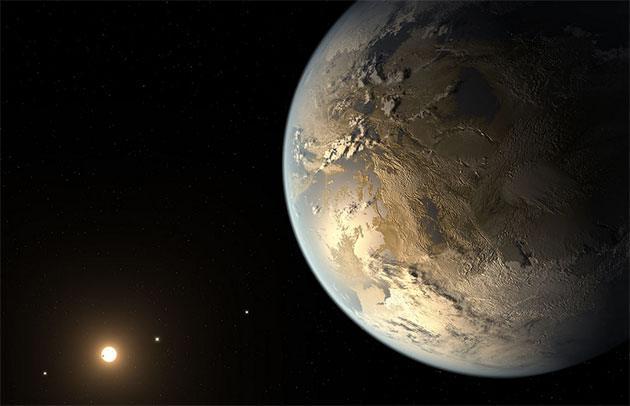 Künstlerische Darstellung eines erdähnlichen Exoplaneten (Illu.). Copyright: NASA Ames/SETI Institute/JPL-Caltech
