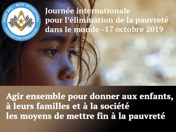 Communiqué 17 octobre 2019 Journée Internationale pour l'élimnation de la pauvreté dans le monde