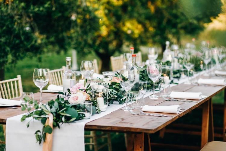 Banquete al aire libre- Casas de Luján- Boda en primavera