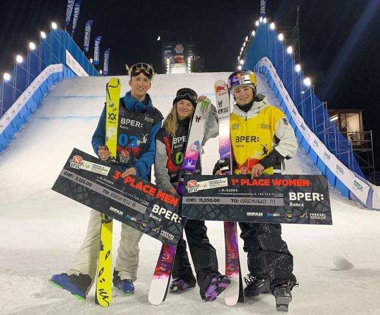 Mathilde Gremaud, Julia Tanno, Andri Ragettli, ski freestyle, ski, freeski, Modena, big air, Modène