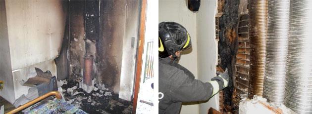 Incendio di edifici residenziali