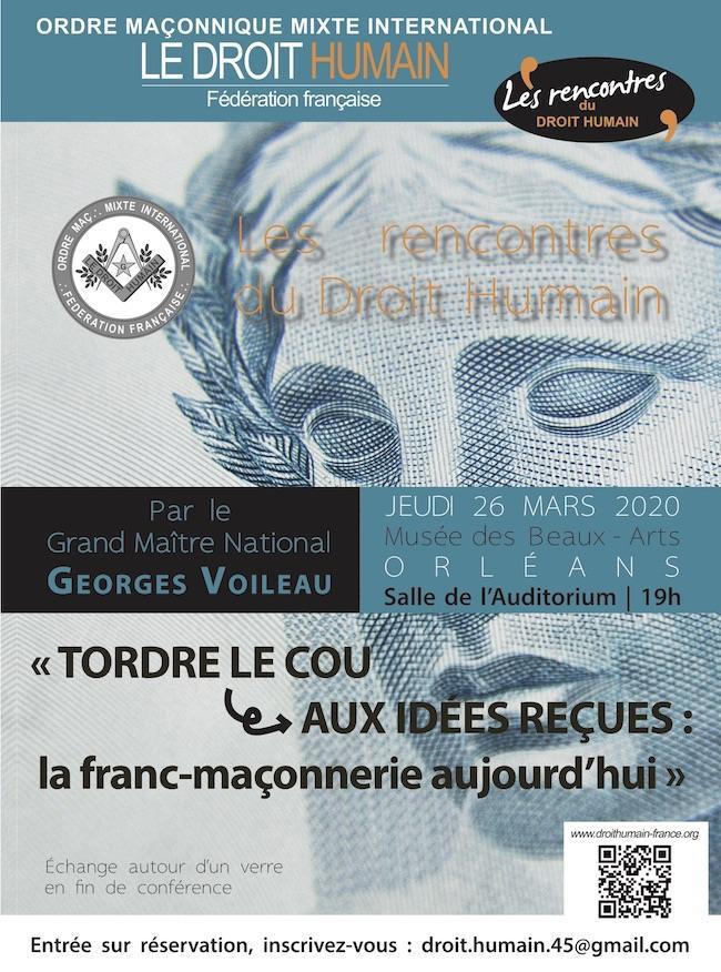 Conférence Orléans 26 mars 2020