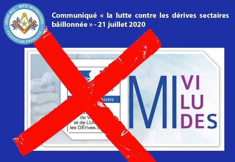 Communiqué MIVILUDES 21 juillet 2020