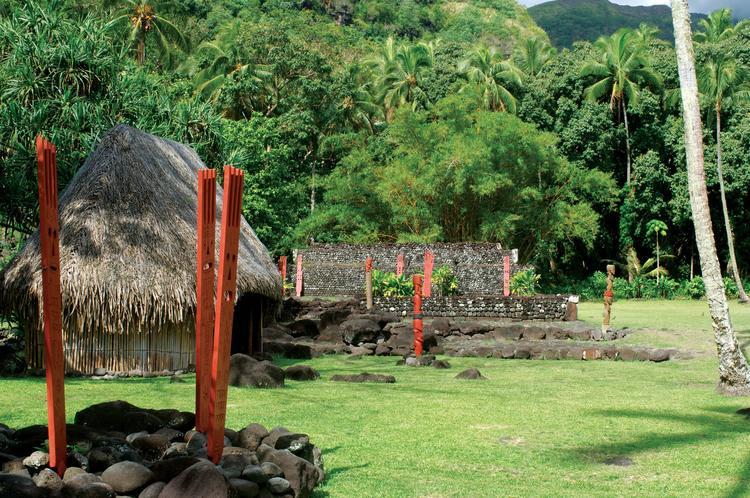 Site archéologique à Paea : le marae Arahurahu